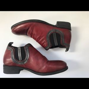 Miz Mooz red and black leather booties!